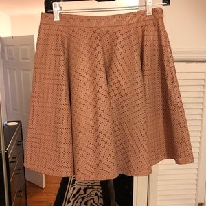 Anthropologie Vegan Leather Skirt sz 8 muted Pink